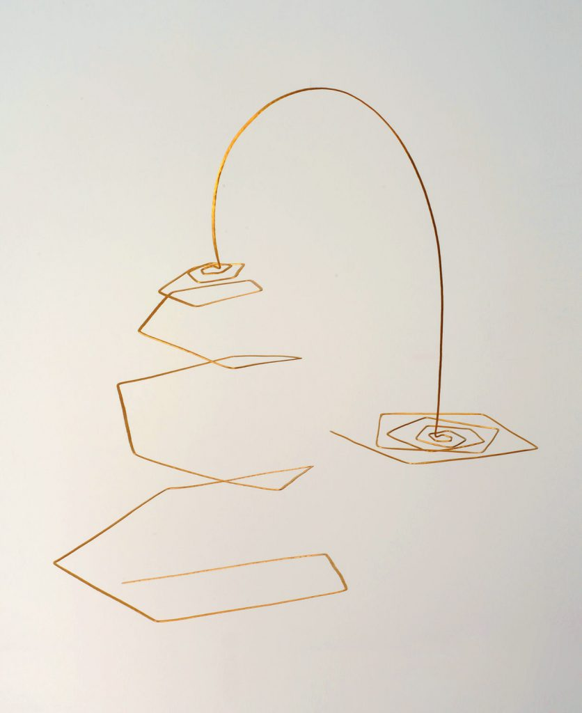 Mobile, Pentagonal Spirals, 2009, bronze (Interventions), 45x60x35 cm