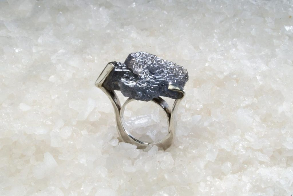 Ring Frisson, 'Les Bagues' Group Exhibition, 2017, Silver, Turmaline Crystal