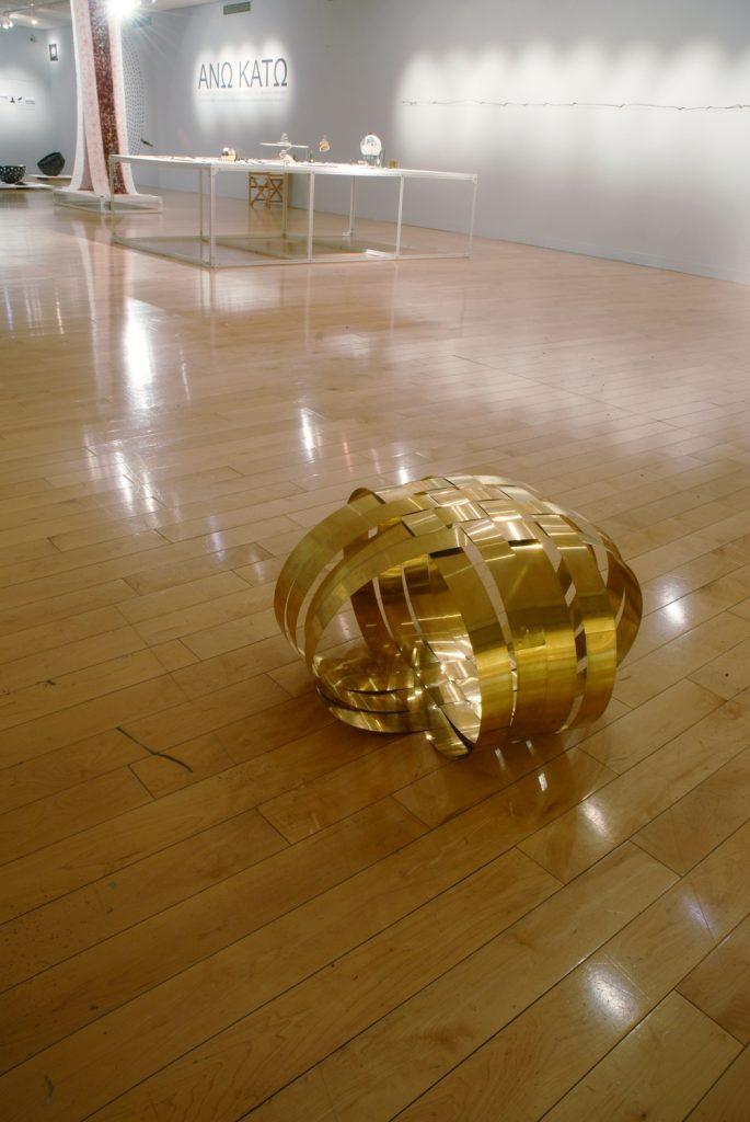 Ball Push me! 2009, bronze, 40x67x67 cm