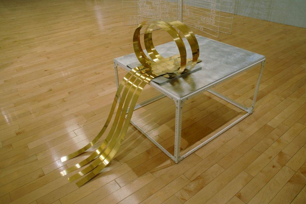 Chime Sculpture Lullaby, 2009, bronze, aluminum, 125x67x80 cm