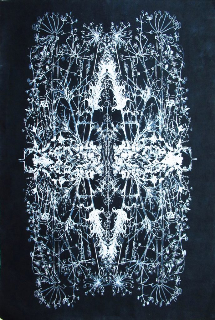 Mirrored July 2. Ink on mulberry paper, 92 x 61cm