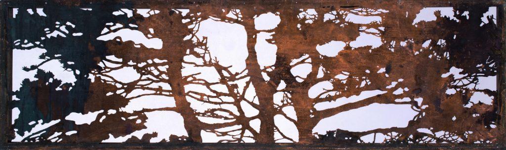 Pine. Acid cut Vintage Copper, 38 x 110 cm