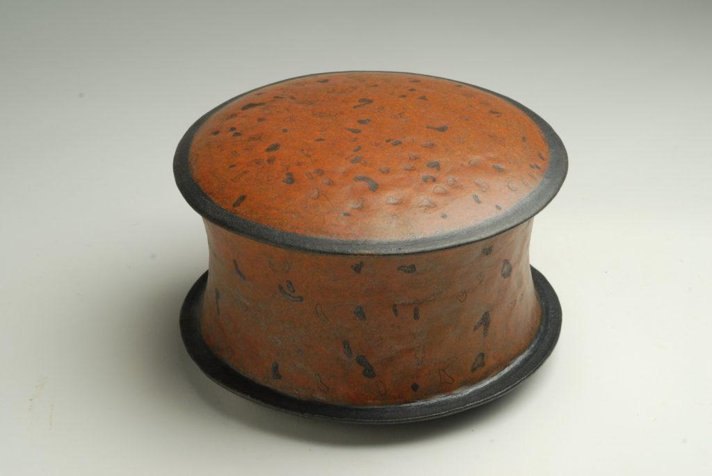 Raku box, 30cm diameter