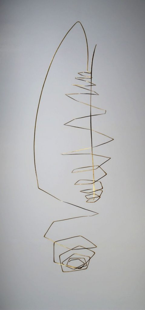 Mobile Come together, bronze, 90 x 30 x 20 cm