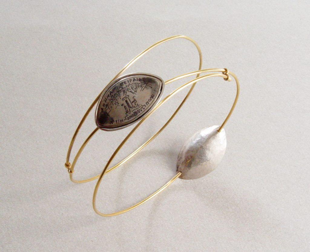 Bracelet: silver, niello