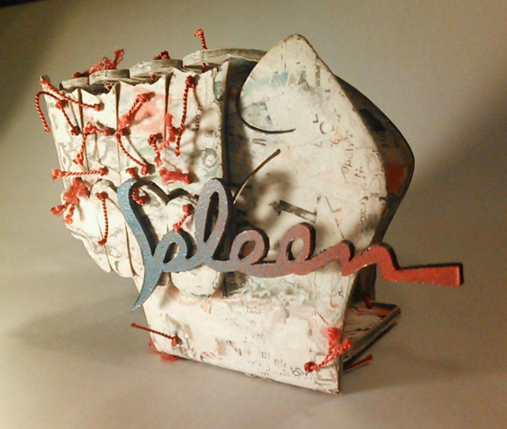 """""""Spleen"""": objects, bronze , paper mass, thread"""