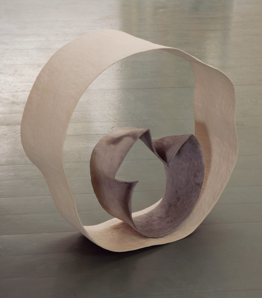 """Flowing form"",2011, stoneware, terra sigillata, circa 50cm heigh"