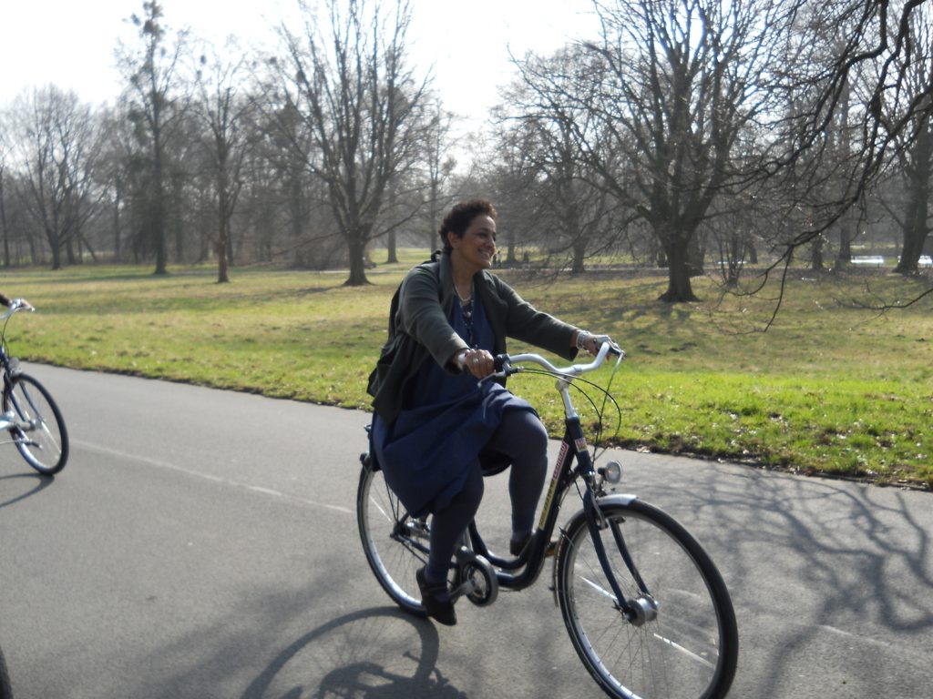 Day out cycling in the Hannover gardens