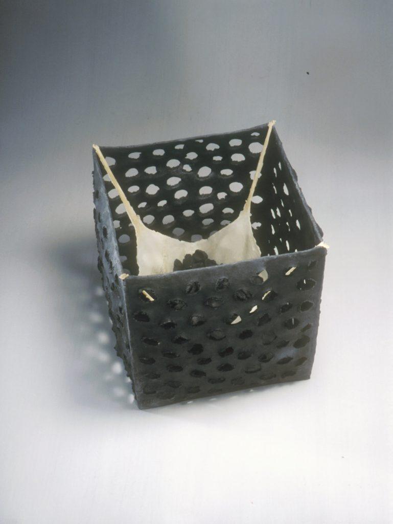 """Gathering"", 2003. Smoked stoneware, latex, 22 x x 22 x 25cm"