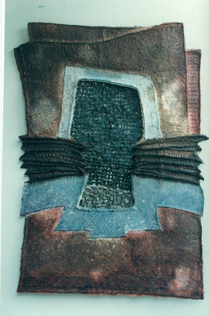'' Entrance I '',   1994<br>Handmade paper<br>173 x 125 cm.
