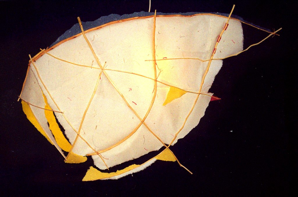 '' Vancouver '',   1995<br>Handmade paper, wood<br>100 x 80 x 20 cm