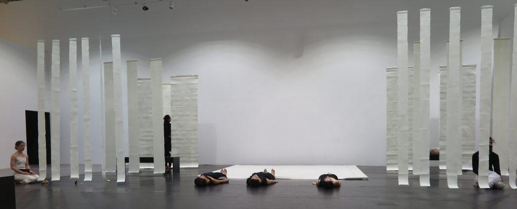 '' Liminal '' με ιμάτιον μέλαν,   2019<br>Scene design for the choreography and musical performance of Natassa Zouka
