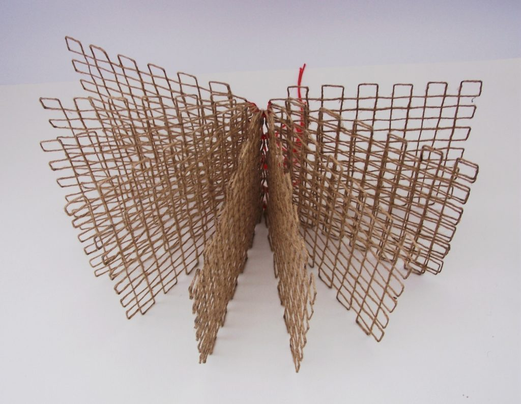 '' Woven Pages'', 2008Jute thread19 x 35 x 18 cm.