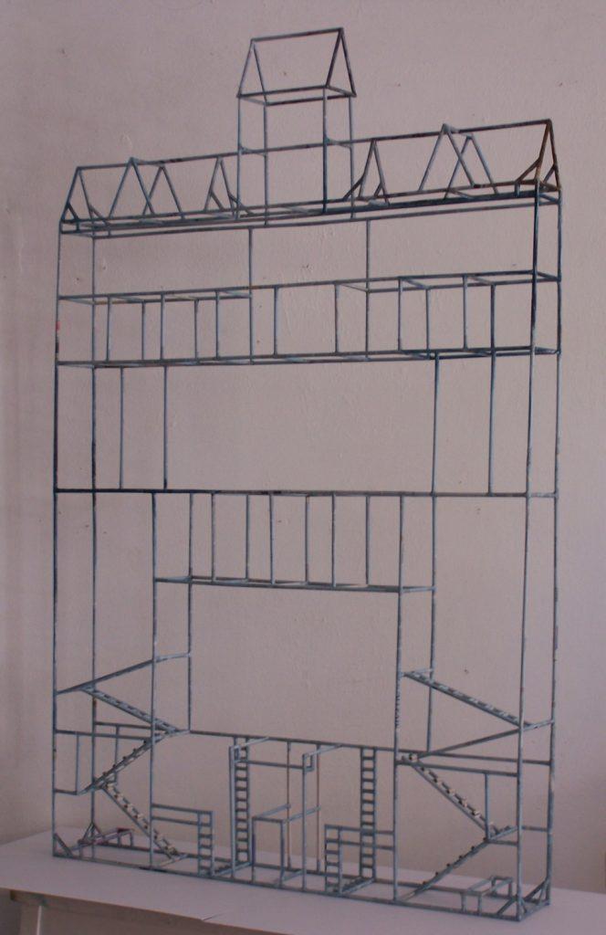 '' Redefining the boundaries '',   2014 <br>Newspaper, handmade paper <br>157 x 101 x 13 cm.