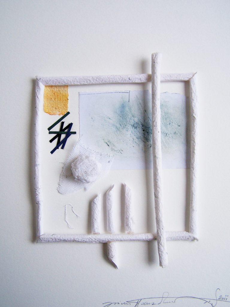 '' White window '',   2012<br>Handmade paper<br>30 x 24 cm.